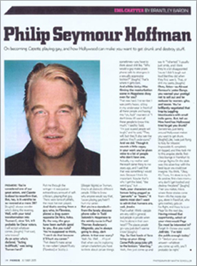 Philip Seymour Hoffman - Idol Chatter