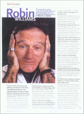 Robin Williams - Idol Chatter