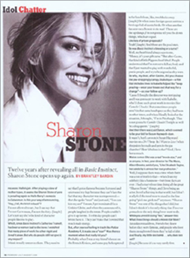 Sharon Stone - Idol Chatter