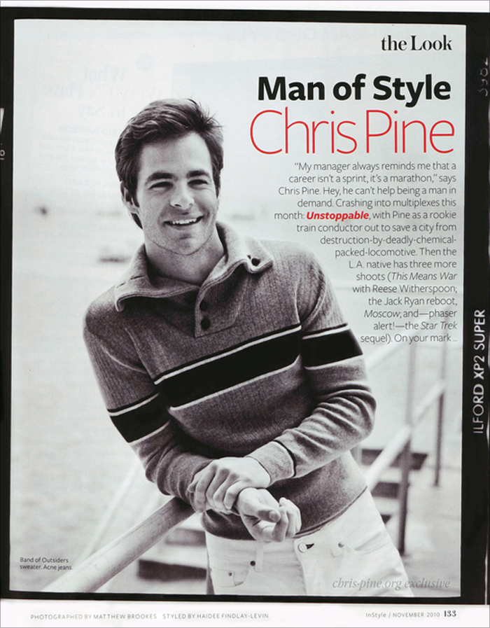 Chris Pine - InStyle Magazine Man of Style