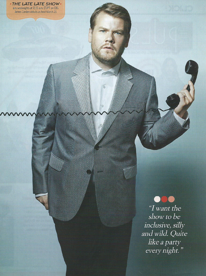 James Corden - CBS Watch! Magazine