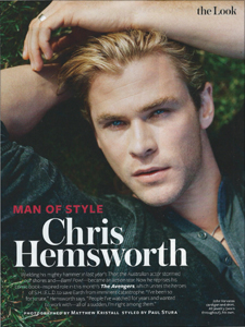 Chris Hemsworth - InStyle Magazine Man of Style