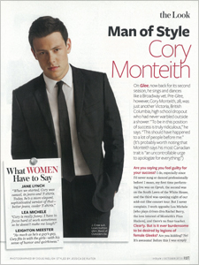 Cory Monteith - InStyle Magazine Man of Style